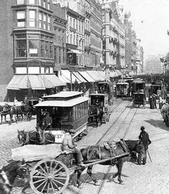 Union Square-Broadway, 1892